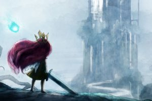 drawing, Sword, Aurora, Child of Light