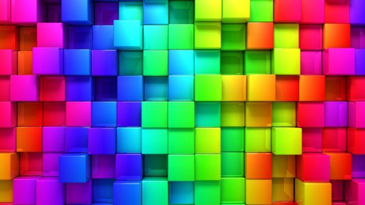 colorful, Cube HD Wallpaper Desktop Background