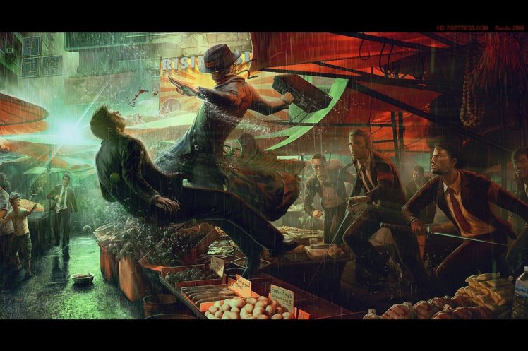 Shadowrun, Cyberpunk HD Wallpaper Desktop Background
