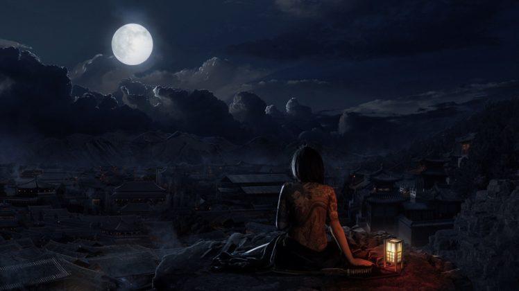 drawing, Tattoo, Night HD Wallpaper Desktop Background