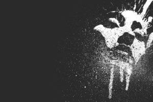 drawing, Monochrome, Face, Paint splatter