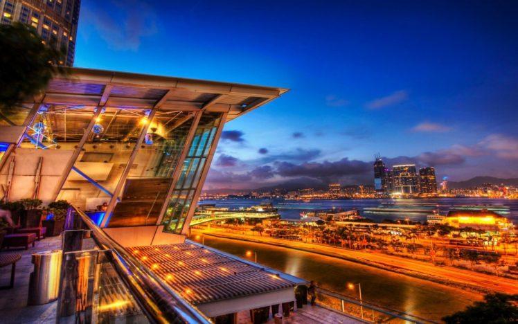 cityscape, Architecture, Lights, Hong Kong HD Wallpaper Desktop Background