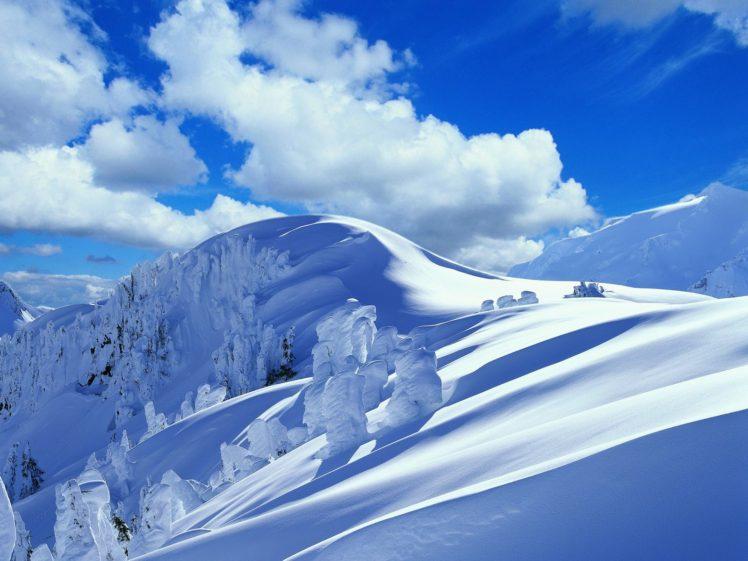 mountain, Snow HD Wallpaper Desktop Background