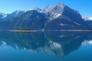mountain, Reflection