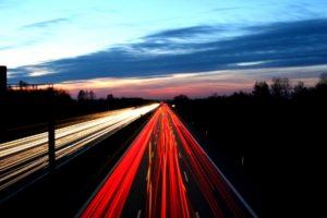 road, Highway, Long exposure, Light trails