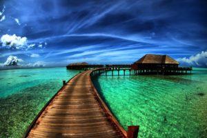 water, Bridge, Dock