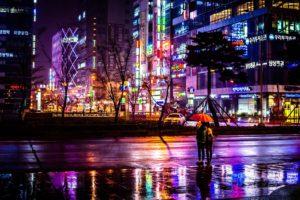 cityscape, Umbrella, South Korea