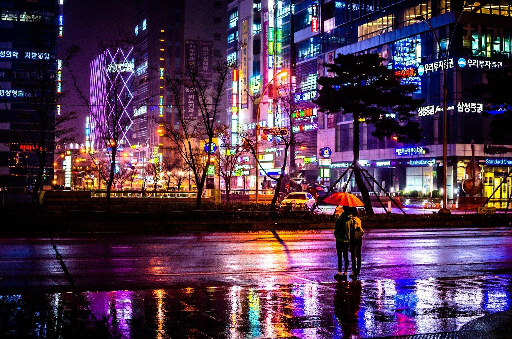 Korea Wallpaper: Cityscape, Umbrella, South Korea HD Wallpapers / Desktop