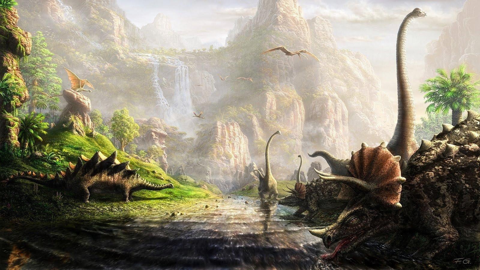 dinosaurs, Brachiosaurus, Stegosaurus, Triceratops, Pterodactyl HD Wallpapers / Desktop and Mobile Images & Photos