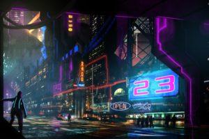 cyberpunk, Neon