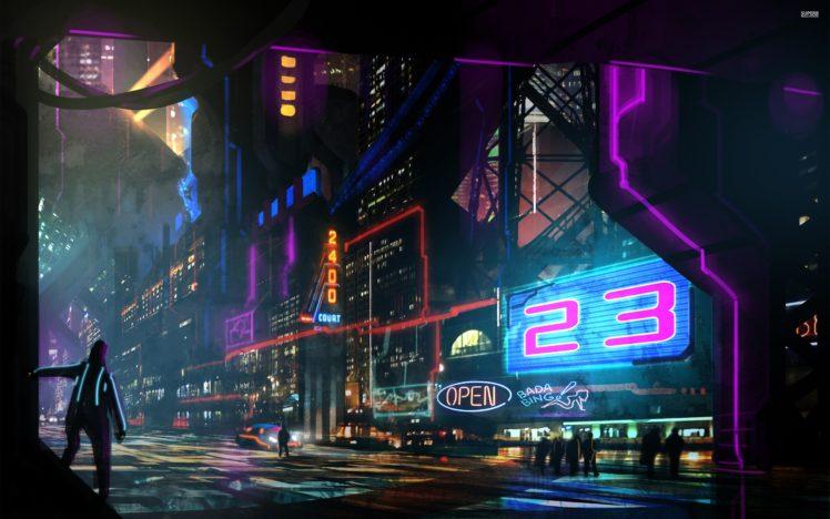 cyberpunk, Neon HD Wallpaper Desktop Background