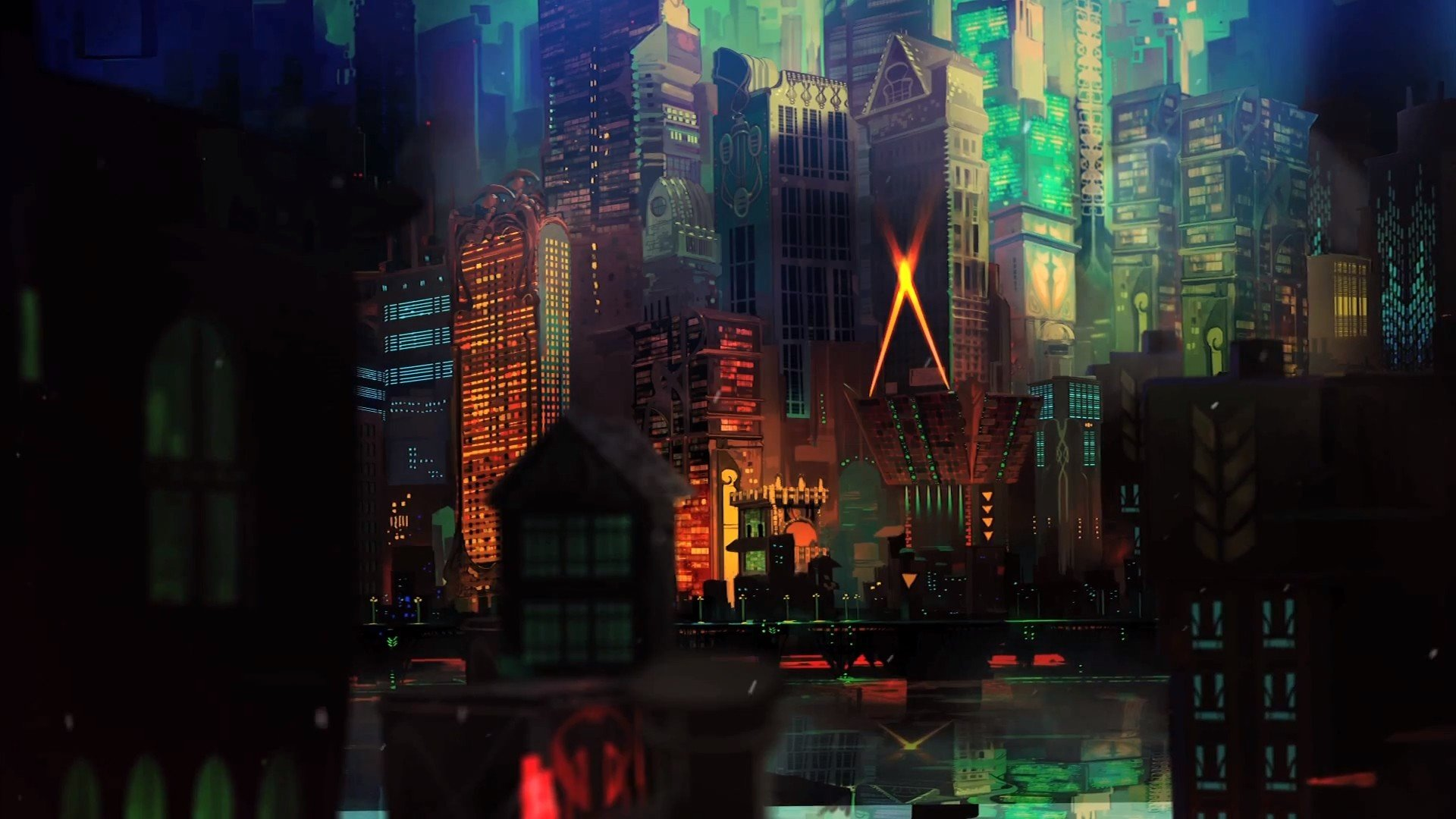cityscape, Transistor HD Wallpapers / Desktop and Mobile ...