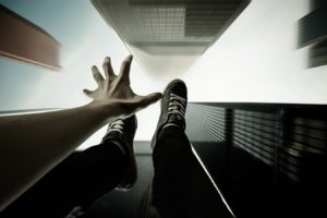 point of view, Building, Falling