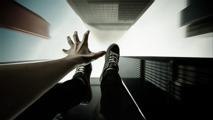 point of view building falling hd wallpapers desktop and mobile