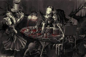 Gothic, Alice in Wonderland, Blood, Selective coloring