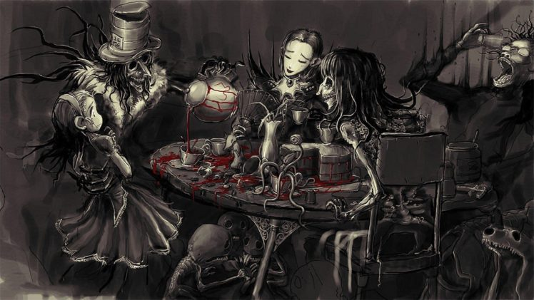 Gothic Alice In Wonderland Blood Selective Coloring Hd
