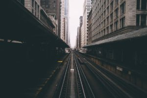 train station, Railway, City