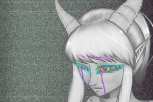 psychedelic, Crying, Horns, Static