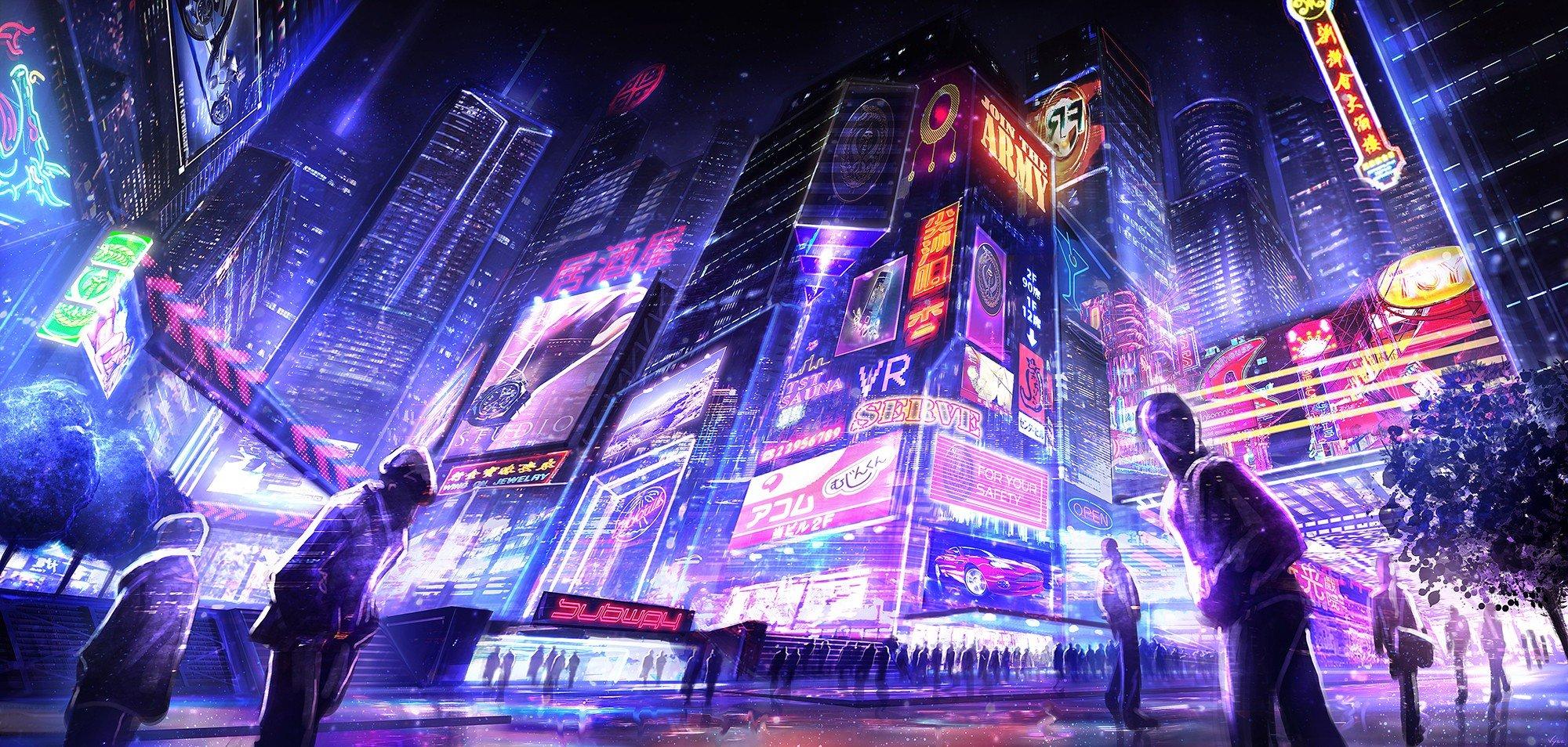 Cyberpunk 2077 City Wallpaper: Cyberpunk, Futuristic, Neon HD Wallpapers / Desktop And