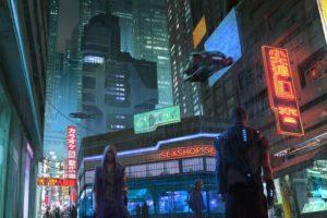 cyberpunk, Futuristic, Neon