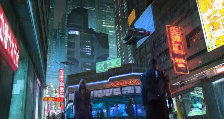 cyberpunk, Futuristic, Neon HD Wallpaper Desktop Background