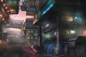 cityscape, Train, Futuristic