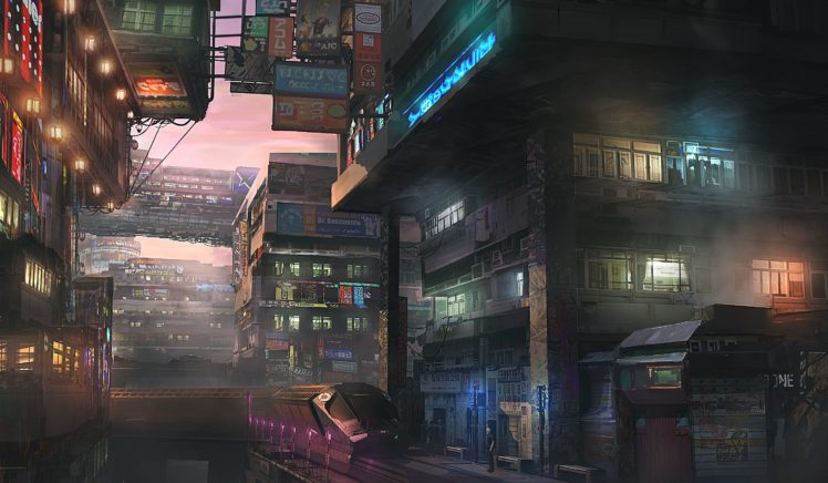 cityscape, Train, Futuristic HD Wallpaper Desktop Background