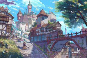 village, Castle