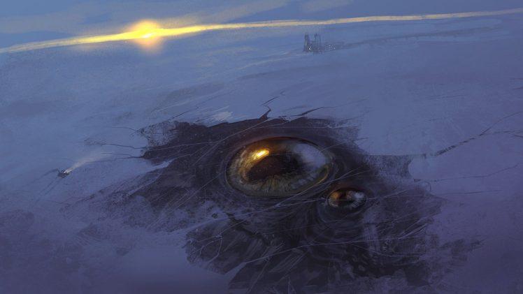 horror, Ice, Eyes HD Wallpaper Desktop Background