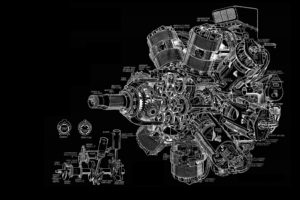 engines, Schematic, Sketches, Engineering, Turbine, Gears