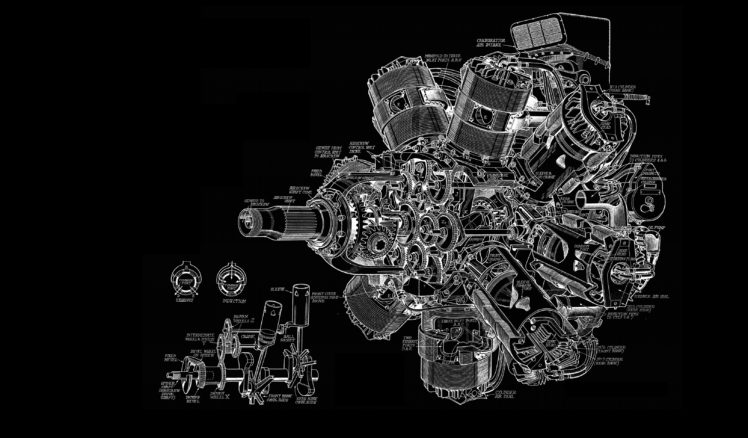 engines, Schematic, Sketches, Engineering, Turbine, Gears HD ...