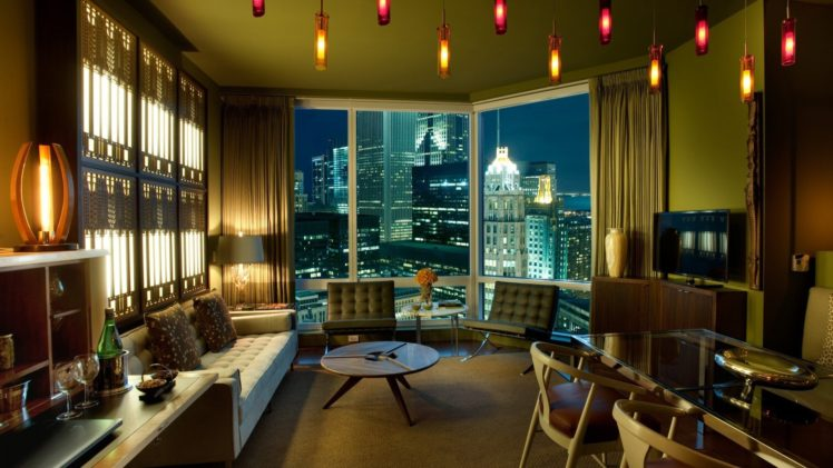 indoors, Cityscape, Window, Night HD Wallpaper Desktop Background