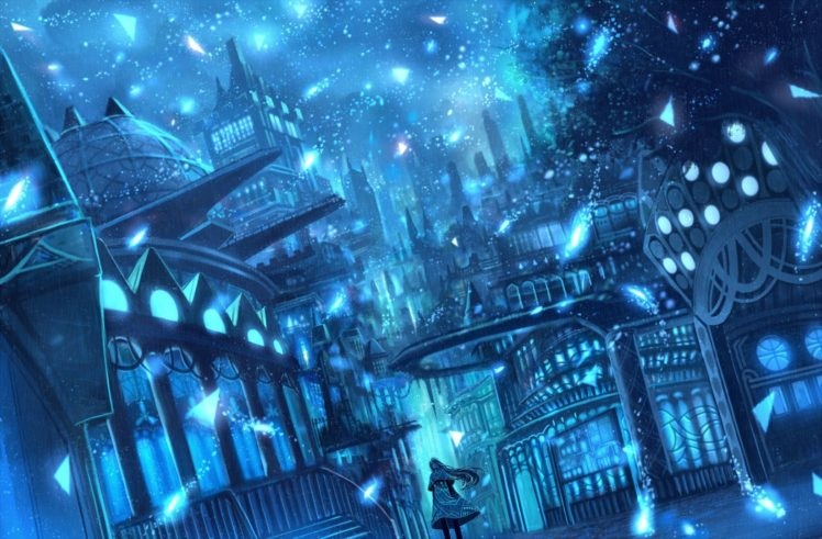 blue, Cityscape HD Wallpaper Desktop Background