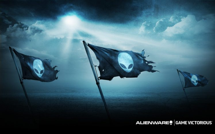 Alienware, Computer, PC gaming, Flag HD Wallpapers / Desktop