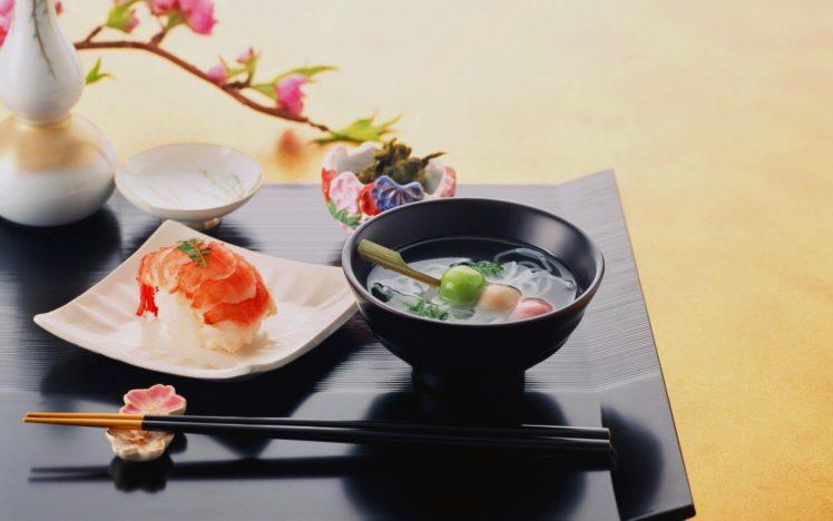 food, Chopsticks, Sushi HD Wallpaper Desktop Background