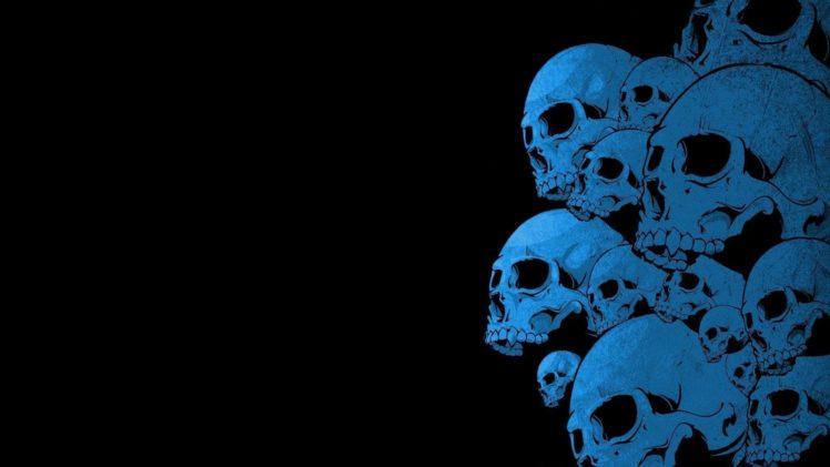 blue skull hd wallpapers desktop
