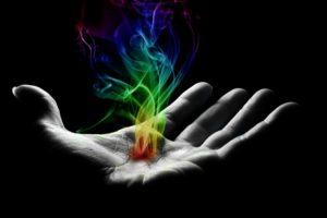 photo manipulation, Selective coloring, Smoke, Hand