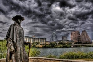 HDR, Building, Statue, Cityscape, Austin, Austin (Texas), Stevie Ray Vaughan