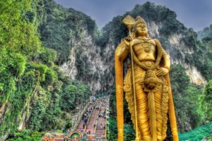 HDR, Mountain, Statue