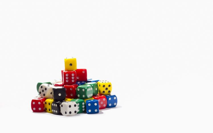 cube, Minimalism, Dice, White background, Colorful HD Wallpaper Desktop Background