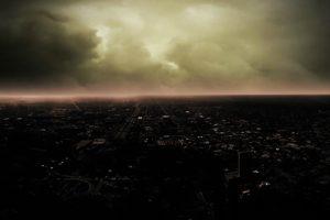 cityscape, Overcast, City, Dark