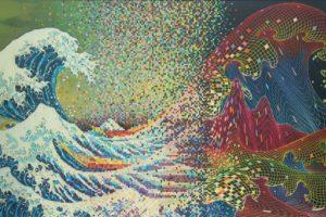 The Great Wave off Kanagawa, Pixels