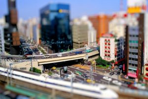 tilt shift, Cityscape