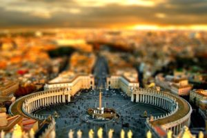 tilt shift, Rome, Blurred, Cityscape
