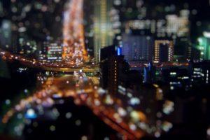 tilt shift, Bokeh, Tokyo, Cityscape