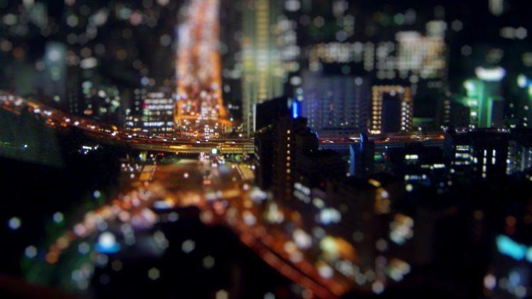 tilt shift, Bokeh, Tokyo, Cityscape HD Wallpaper Desktop Background