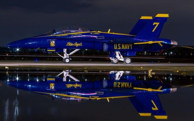 Mcdonnell Douglas F A 18 Hornet Blue Angels Hd Wallpapers