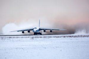 aircraft, Snow, Antonov An 124
