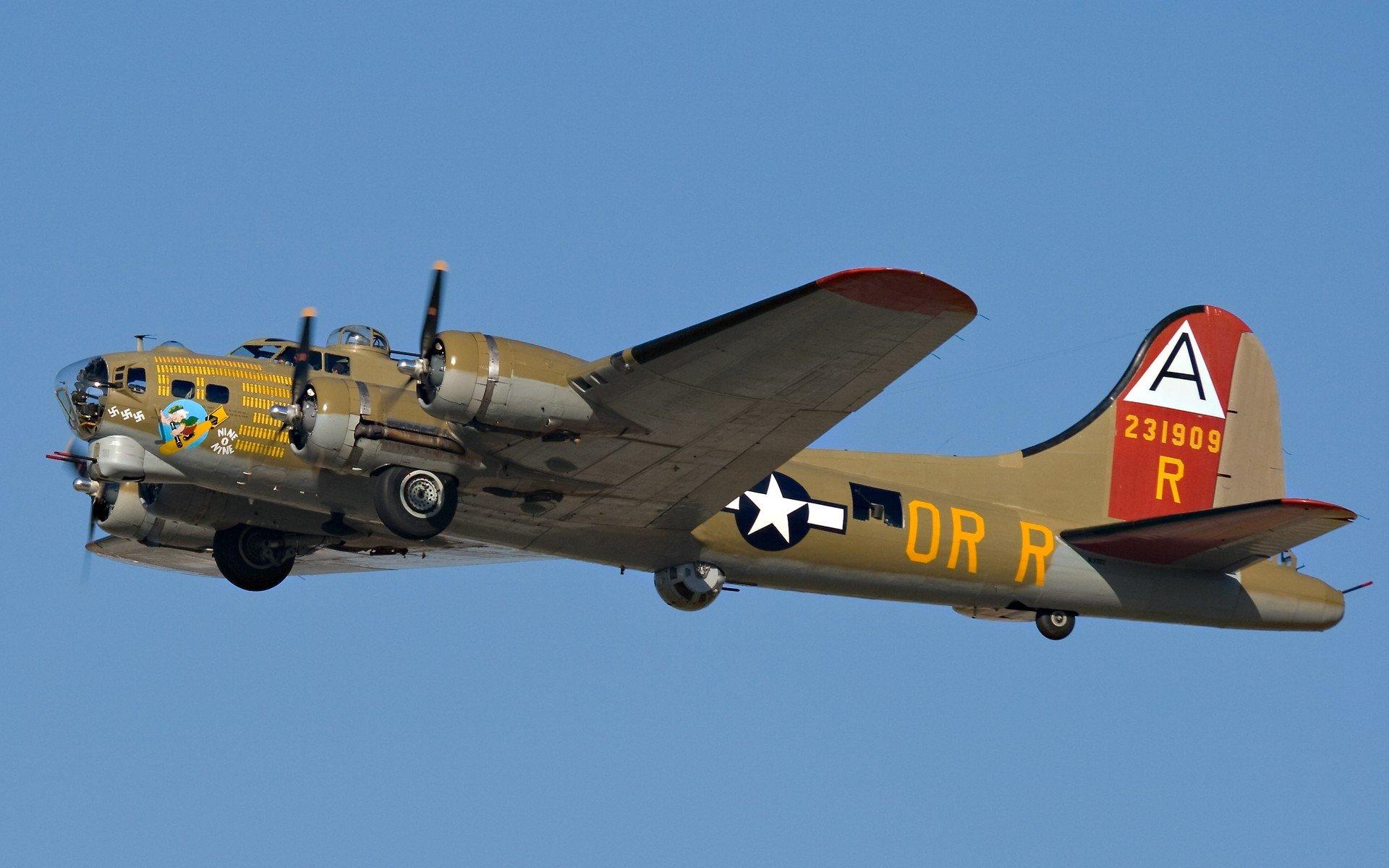 Boeing B 17 Flying Fortress Star Engine Hd Wallpapers Desktop