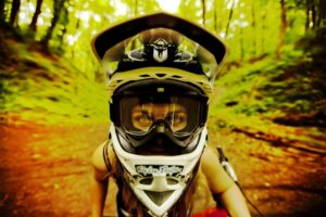looking at viewer, Helmet